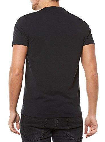 ... Emporio Armani EA7 Herren T-Shirt Kurzarm Kurzarmshirt runder Kragen  Weiß Schwarz ...