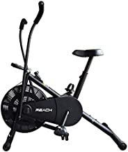 Reach Air Bike Exercise Cycle With Moving Handles & Adjustable Cushioned Seat (Multi-co