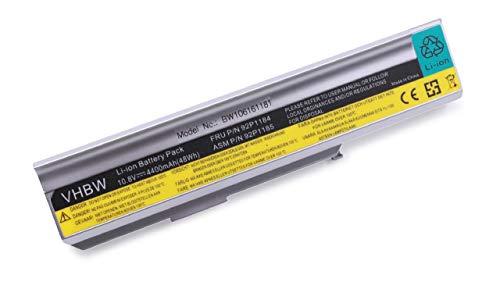 vhbw Batterie LI-ION 4400mAh 10.8V Argent Compatible pour Lenovo remplace 40Y8315, 40Y8322, ASM 42T5213, ASM 92P1185, FRU 42T4514