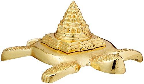 Buycrafty SRI Meru Yantra Schildkröte in Ashtadhatu (Mischung aus 8 Metallen) für spirituelle Kräfte, Innere Doshas und riesige Reichtümer indisches Kunsthandwerk -