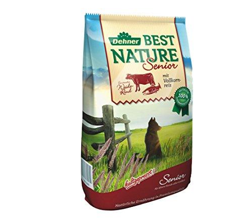Dehner Best Nature Hundefutter, Senior, Weiderind und Vollkornreis, 12,5 kg