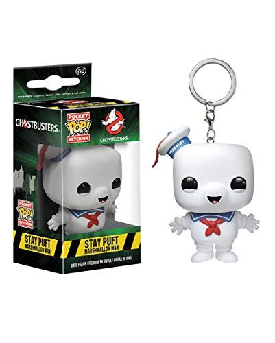 Horror-Shop Ghostbusters Stay Puft Funko Schlüsselanhänger als Geschenkidee für Fans und Sammler