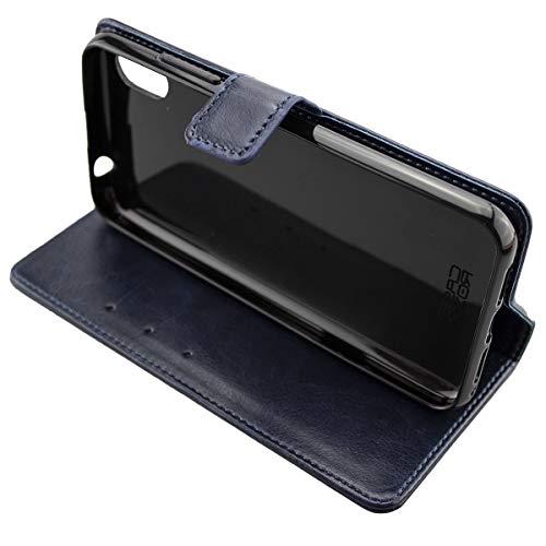 Coque pour Gigaset GS110, Bookstyle-Case Étui de Protection Antichoc pour Smartphone (Coque de Coloris Bleu)