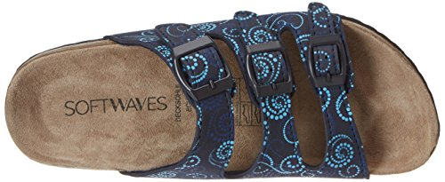 Softwaves 274 138, Mules Femme Blau (NAVY MULTI)