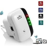 Teabelle Repetidor de WiFi Extensor de Red WiFi Repeater Mini (2,4 GHz, 300 Mbps, Puerto Fast Ethernet, WPS, Modo Ap Punto Acceso y Extensor, Antenas internas, Wireless Amplificador)