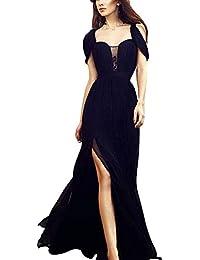 Mujer Vestidos de Noche Elegante Largos Vestido de Gasa Vestidos de Fiesta