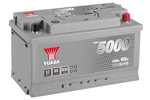 Yuasa YBX5110High performance starter batteria, argento