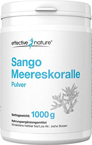 effective nature Sango Meereskoralle Pulver 100% Original - Optimales Calcium Magnesium Verhältnis - 1000g