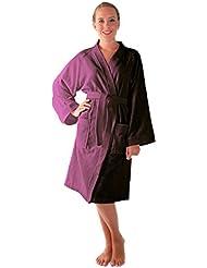 Arus - Albornoz de mujer Archee, 100% algodón, corta de estilo kimono