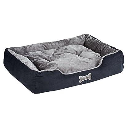 Me & My Black & Grey Large Super Soft Dog Bed 2