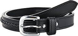 STERLING GERMANY Women's Belt (B523-BRAIDED, Black, 40)