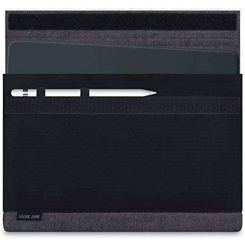 Adore June 10,5/11 Zoll Bold Tasche für Apple iPad Air 10.5 2019, Apple iPad Pro 11 und Apple iPad Pro 10 5 mit Apple Pencil Halterung, Grau/Schwarz