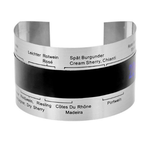 TCHIBO Clip-Weinthermometer, Flaschenthermometer, Wein-Thermometer