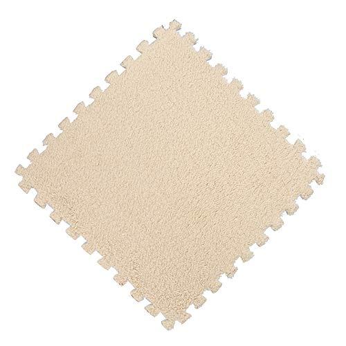 fzimmer Teppiche Wohnzimmer Teppich 30 * 30 cm Schaum Puzzle Matte Eva Shaggy Samt Multi Farbe(Beige,30 * 30cm) ()