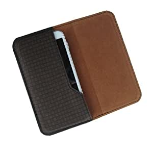 i-KitPit : PU Leather Flip Pouch Case Cover For Gionee Ctrl V3 (BROWN)