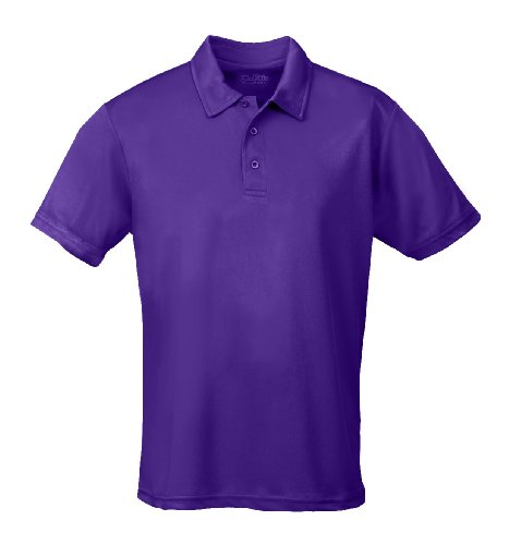 Just Cool - Performance - Performance Polo Shirt, atmungsaktiv, Shirt, atmungsaktiv, M,Lila Lila Uni