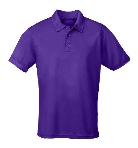 Just Cool - Performance - Performance Polo Shirt, atmungsaktiv, Shirt, atmungsaktiv, XXL,Lila