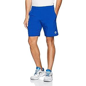 BIDI BADU Tennis Shorts Herren – blau – seitliche Taschen – elastischer Bund – Atmungsaktiv – Sport Shorts – Henry Tech Shorts – Blue/White (SP18)