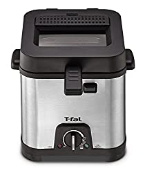 1.2-Liter , Oil Fryer : T-fal FF492D Stainless Steel 1.2-Liter Oil Capacity Adjustable Temperature Mini Deep Fryer with Removable Lid, 0.66-Pound, Silver