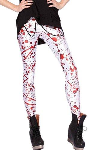 Women's Paint Splatter Leggings. Ideal for both 80s and Halloween dress-up.