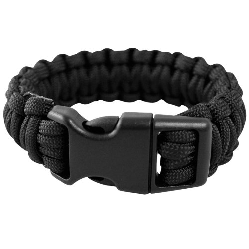 Mil-Tec-Paracord-Wrist-Band-15mm-Black
