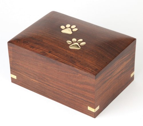 """Urns UK Wooden Pet Cremation Urn for Ashes, Elstree 5"""" Small, S 1"""