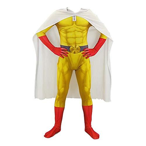 One Punch Superman Kostüm Cosplay Siamese Strumpfhosen Anime Kostüm Kinder Erwachsene Halloween Kostüm Party Spielen Adult-M (Superman Kostüm Ändern)
