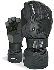 Level Super Pipe Xcr - Guantes de esquí para hombre, color negro, talla L