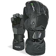 Level Super Pipe Xcr - Guantes de esquí para hombre, color negro, talla L