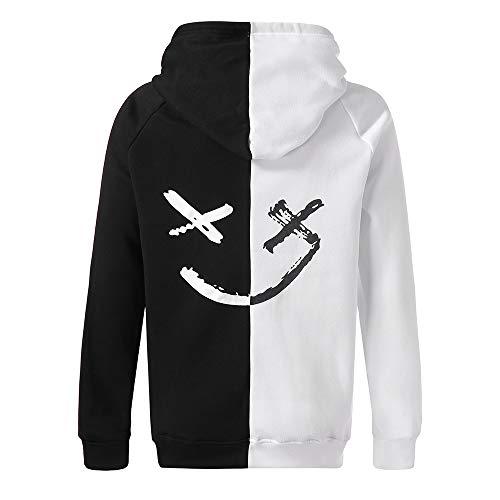 Saingace Herren Kapuzenpullover,Unisex lächelnde Gesichts Mode Druck Hoodie Sweatshirt Pullover ()