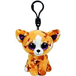 Carletto Ty 35007 - Pablo clip, Chihuahua con brillo los ojos Glubschis, Beanie Boos, 8,5 cm, de color marrón