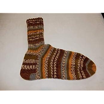 Socken Herrensocken handgestrickt Größe 48/49