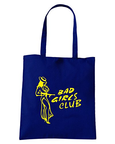 T-Shirtshock - Borsa Shopping FUN0679 bad girls club 2 sticker decal 46539 Blu Navy
