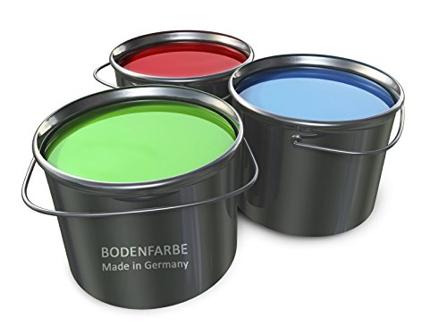10L Bodenbeschichtung Betonfarbe in Grau, Schwarz, Gelb, Rot, Grün, Weiss, Beige, Transparent, Terracotta oder Braun Bodenfarbe Bodenversiegelung Garagenfarbe