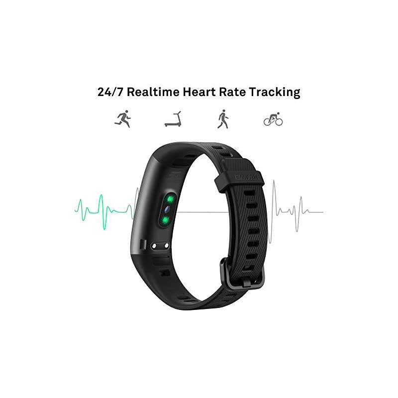 HUAWEI Band 3 Pro All-in-One Fitness Activity Tracker, 5ATM Water Resistance for Swim, 24/7 Heart Rate Monitor, Built-in…