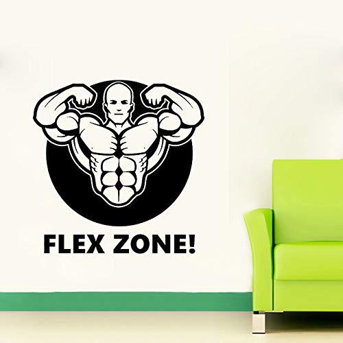 zlhcich Fitness Gym Wandtattoo Flex Zone Aufkleber Kunst Dekor Schlafzimmer Design Wandbild Sport Lifestyle Work Out Home 59 * 59 cm -