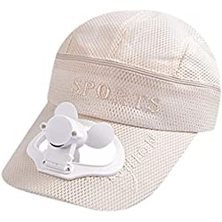 Été nouveau chapeau camping unisexe randonnée spire cap ventilateur casquette de baseball refroidissement USB de charge ventilateur refroidissement capuchon