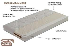 "Naturlatex - Kokos - Matratze ""DaMi Vita Natura KIDS"" (70x140 cm)"