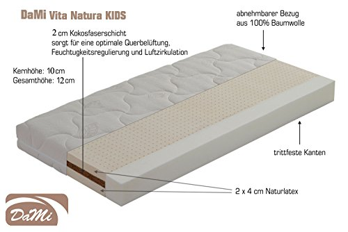 DaMi Naturlatex - Kokos - Matratze Vita Natura KIDS (60x120 cm)
