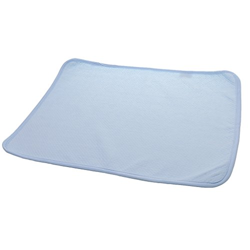 Generic Reusable Bamboo Changing Pad for Change Diaper Stroller Bed Play Crib - blue, 35*45cm