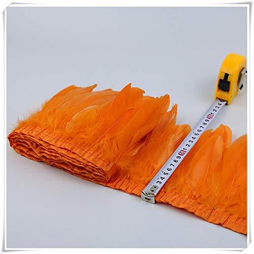 Hohe Qualität Kostüm - Cushy 2yards Prezzo von hoher Qualität Frangia Piuma für das Kostüm in Rot Piuma D'Oca Trim für das Außenpaneel mit Rasenband: Orange
