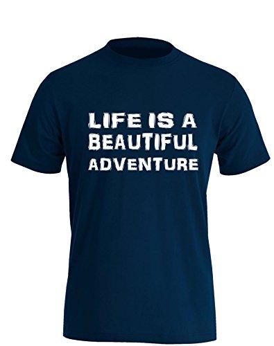 Life is a Beautiful Adventure - Herren TShirt Navy / Weiß