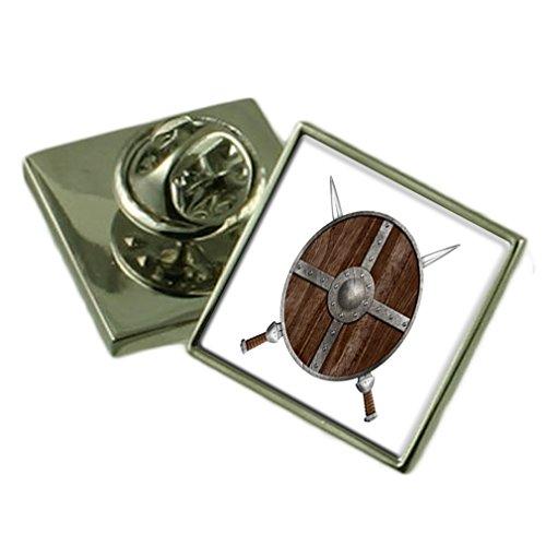 Escudo Guerrero vikingo insignia de solapa bolsa de regalo