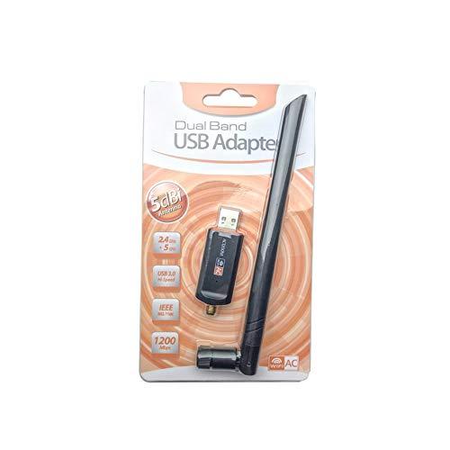 RoadRoma Adaptador USB WiFi Doble Banda 1200 Mbps