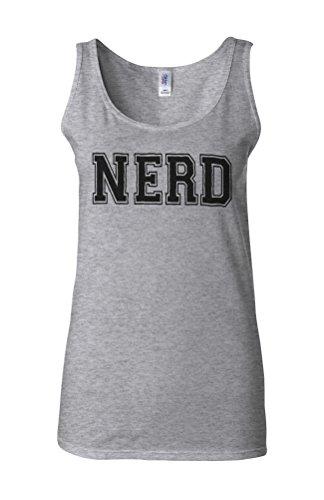 Nerd Cool Dope Hipster Funny Novelty White Femme Women Tricot de Corps Tank Top Vest Gris Sportif