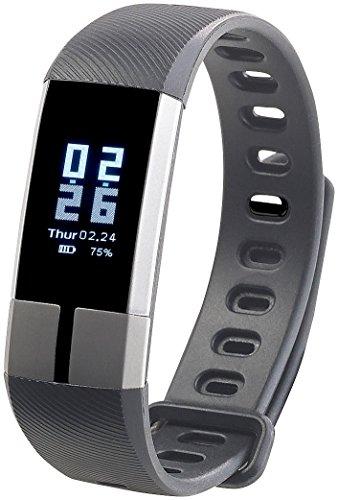 Newgen Medicals Fitnessarmband: Fitness-Armband mit Blutdruck-Anzeige, Herzfrequenz & Bluetooth, IP67 (Fitness Armband EKG)