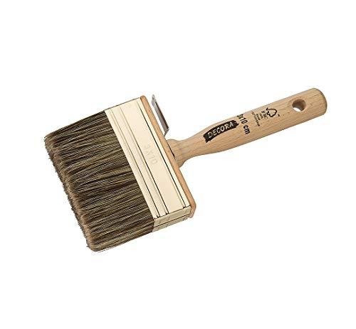 Gedotec Borstenpinsel malen Haarpinsel Malerei Lasur-Pinsel Maler-Bedarf - H3340 | Stärke 10 | Breite 40 mm | mit Polymix-Borsten | 1 Stück