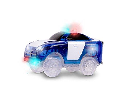 Magic Tracks Zubehör Auto | Polizeiauto Spielzeug | Ideal für Rennbahn Magic Tracks | Autorennauto für Kinder ab 3 Jahre | Kinder Rennauto LED