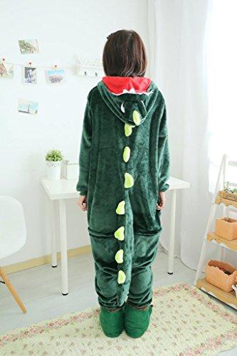 SMITHROAD Jumpsuit Tier Karton Fasching Halloween Kostüm Sleepsuit Cosplay Fleece-Overall Pyjama Schlafanzug Erwachsene Unisex Nachtwäsche S/M/L/XL Stil 4