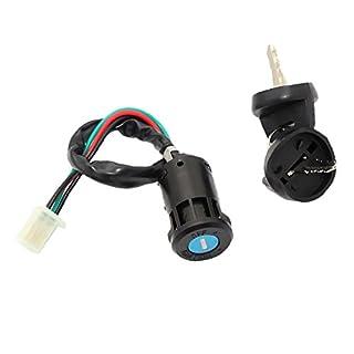 Sharplace 4 Draht Zündschlüsselschalter Starterschalter Ersatz-, Tuning- und Verschleißteile für Pit Quad Dirt Bike ATV